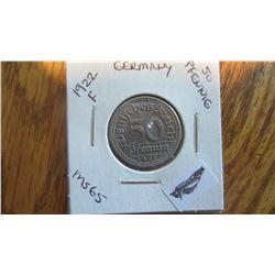 1922-F Germany 50 Pfennig