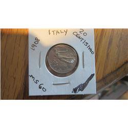 1908 Italy 20 Centisimo
