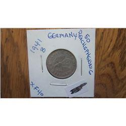 1941-B Germany 50 Reichs Pfennig