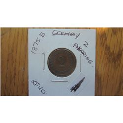 1875-B Germany 2 Pfennig