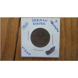 1864 German States 3 Pfennig