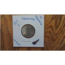 1921-A Germany 10 Pfennig
