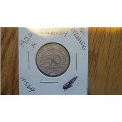 1920-A Germany 50 Pfennig