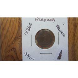 1886-E Germany 1 Pfennig