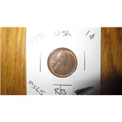 1939 USA 1 Cent