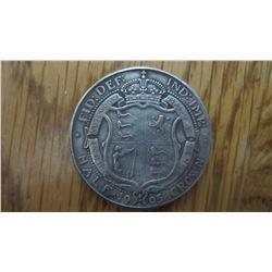 1905 Great Britain 1/2 Crown (RARE)