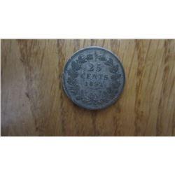 1892 Netherlands 25 Cent