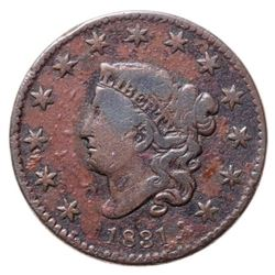 1831 USA 1 Cent