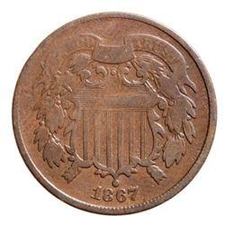 1867 USA 2 Cent