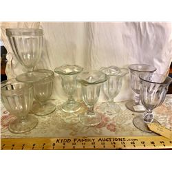 GR OF 8 VINTAGE ICE CREAM PARLOUR GLASSES