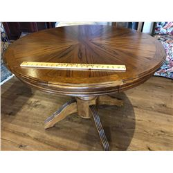 ROUND SOLID WOOD PIE DESIGN DINING TABLE