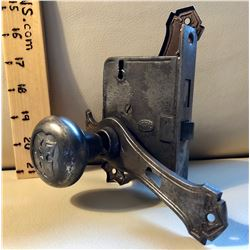 CORBIN ANTIQUE DOOR LOCK WITH 2 KNOBS