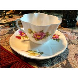 SHELLEY CUP & SAUCER - BEGONIA