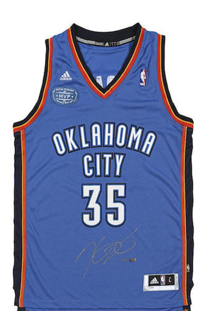 the latest bcf28 a626f Kevin Durant Signed Oklahoma City Thunder Jersey With ...