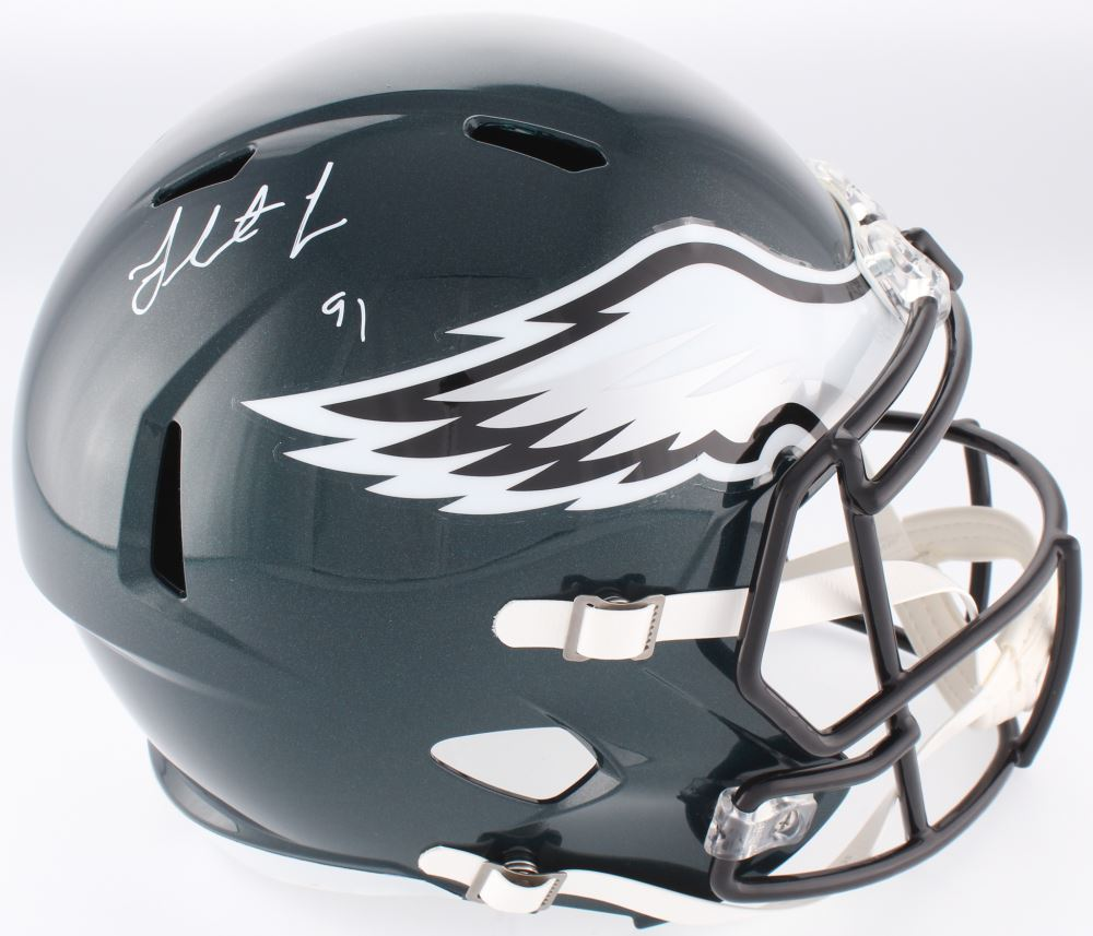 finest selection 41a79 fc5e8 Fletcher Cox Signed Philadelphia Eagles Full-Size Speed ...