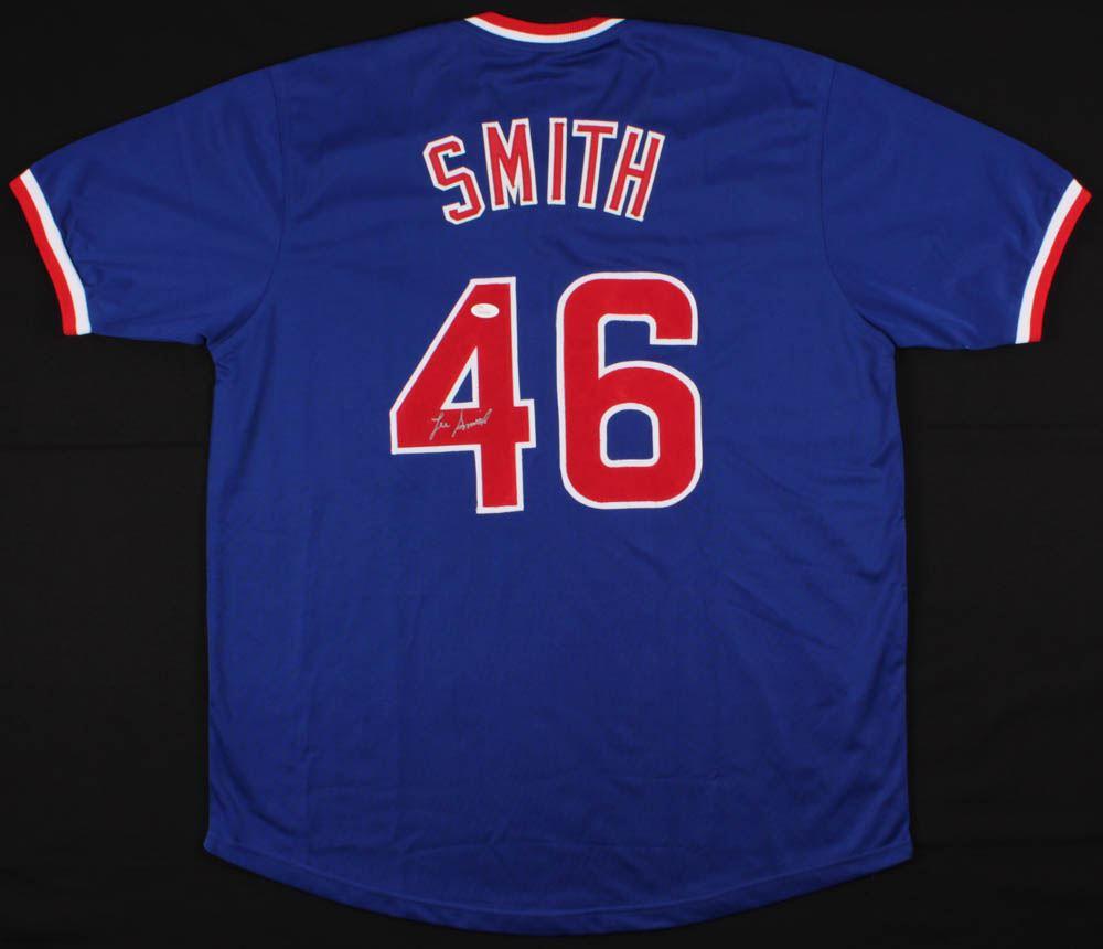 new product 5f0ef ee17d Lee Smith Signed Cubs Jersey (JSA Hologram)