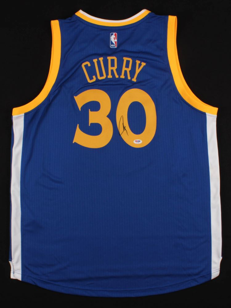 on sale f5d3f c3b59 Stephen Curry Signed Golden State Warriors Adidas Jersey ...
