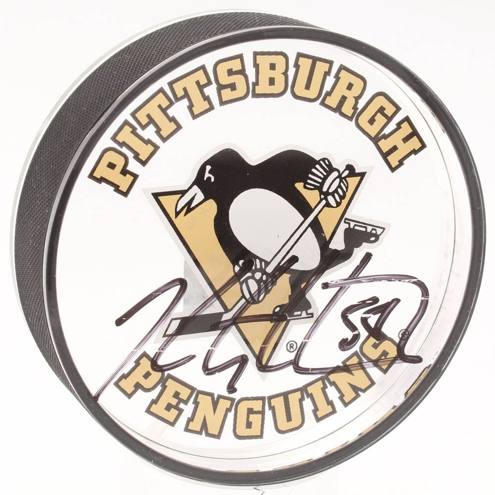 size 40 2bf51 29f30 Kris Letang Signed Pittsburgh Penguins Acrylic Hockey Puck ...