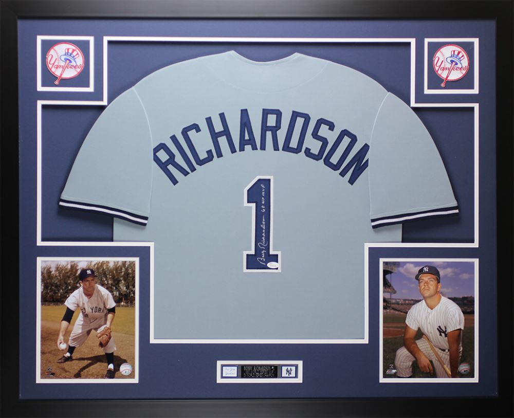 competitive price 71724 c60ff Bobby Richardson Signed New York Yankees 35x43 Custom ...