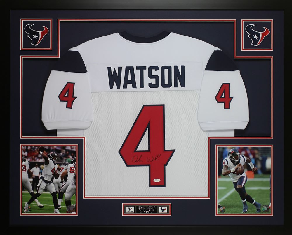 best website 7a726 6fb1f Deshaun Watson Signed Houston Texans 35x43 Custom ...