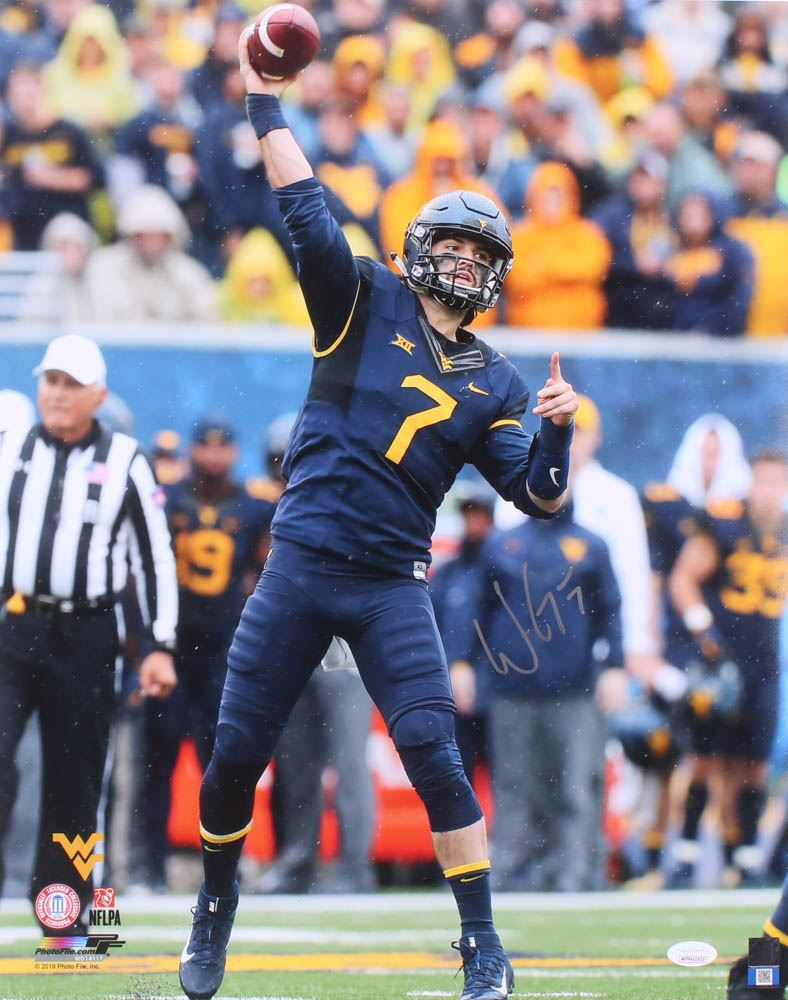 Will Grier Signed West Virginia Mountaineers 16x20 Photo