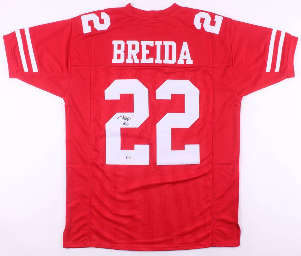 cheaper 01b8d 53007 Matt Breida Signed San Francisco 49ers Jersey (Beckett COA)