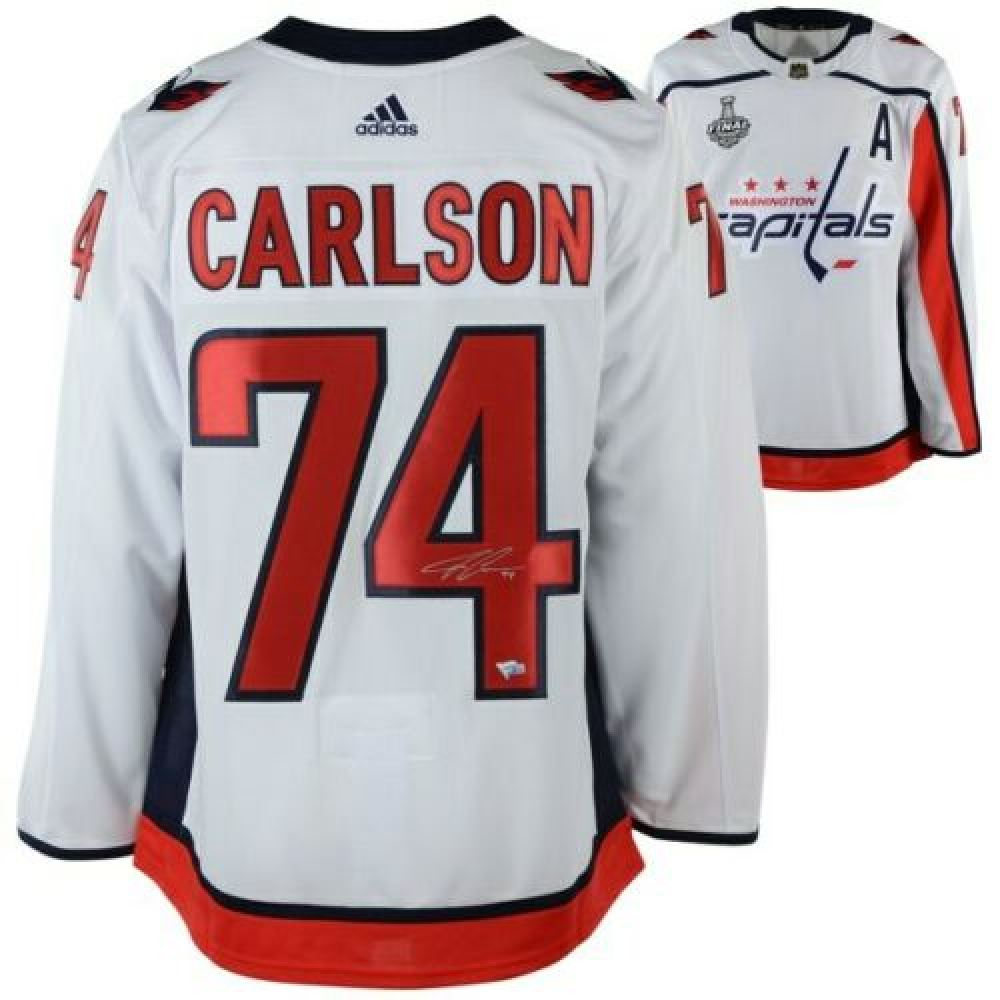 new style 5b5f6 6567c John Carlson Signed Washington Capitals 2018 Stanley Cup ...
