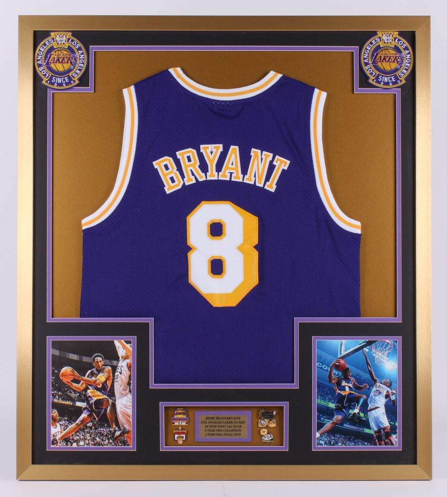 Kobe Bryant Los Angeles Lakers 32x36 Custom Framed Jersey with ...