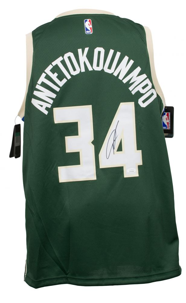 competitive price 4fa69 0fa68 Giannis Antetokounmpo Signed Milwaukee Bucks Nike ...