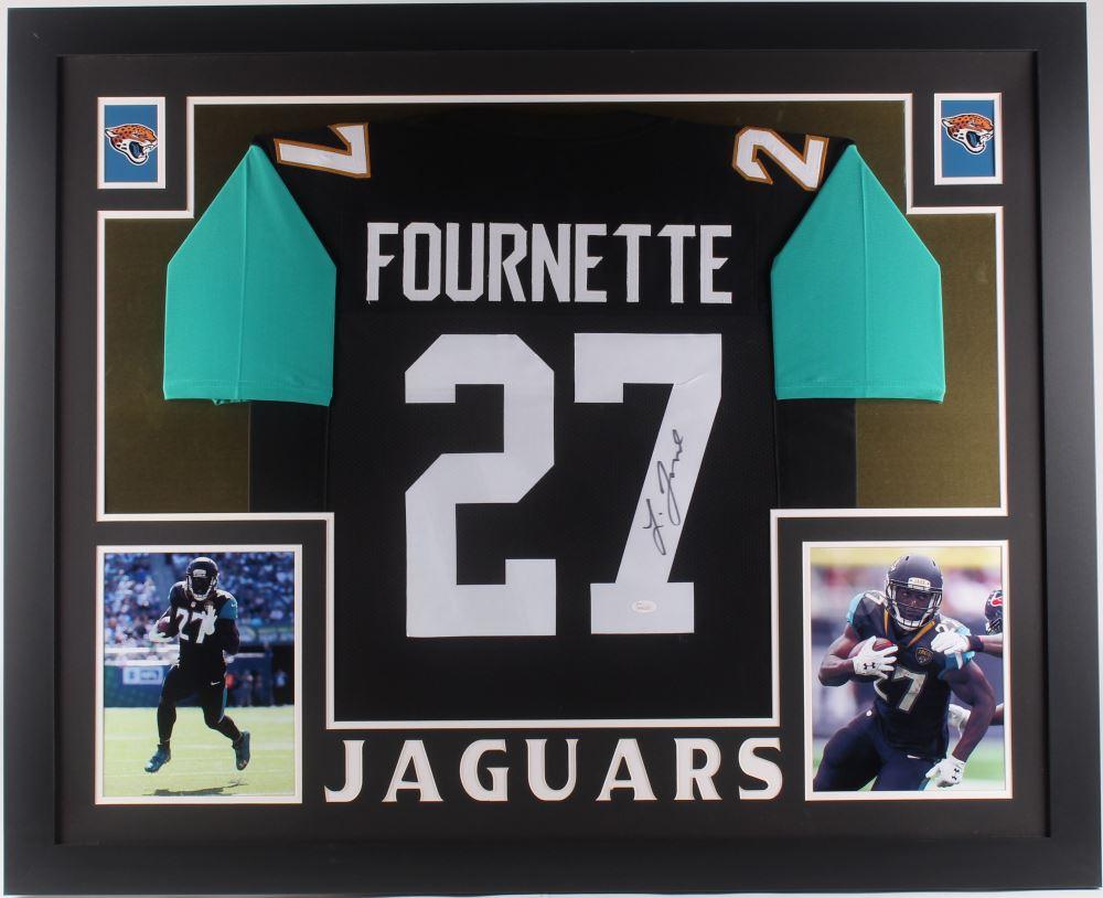 super popular 15094 40f04 Leonard Fournette Signed Jacksonville Jaguars 35x43 ...