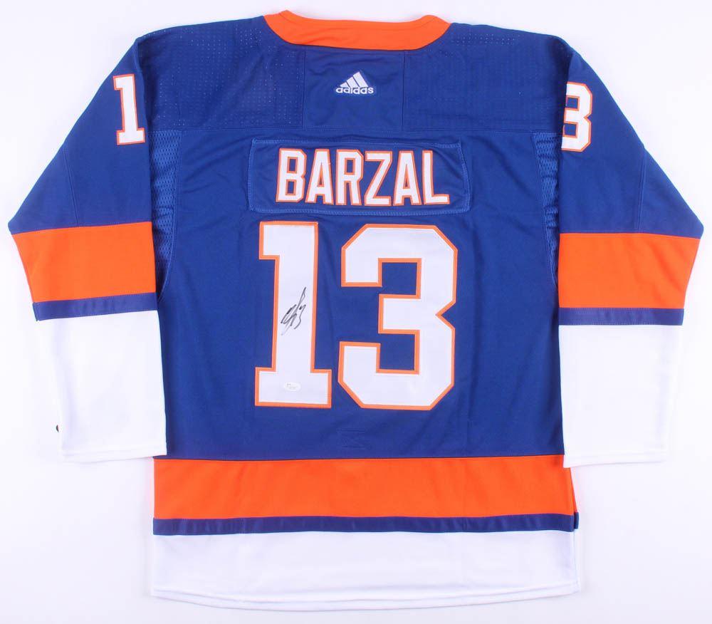 quality design 8ee38 2608e Mathew Barzal Signed New York Islanders Jersey (JSA COA)