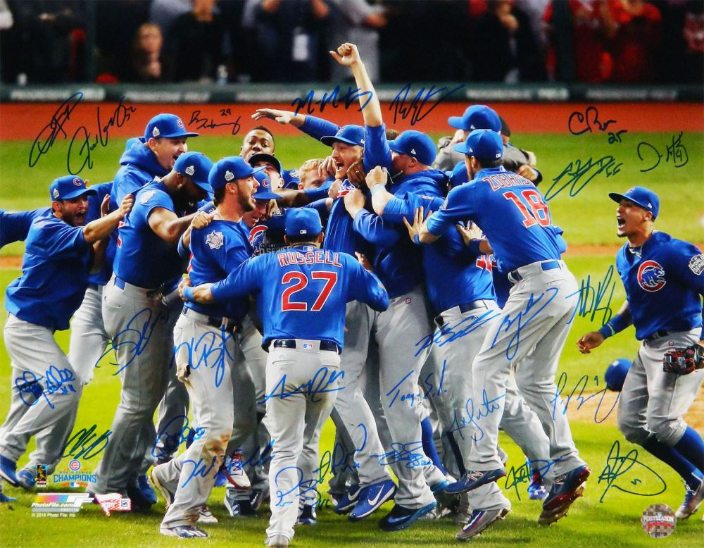 new style 3862f cd009 2016 Cubs World Series Champions 16x20 Photo Team ...