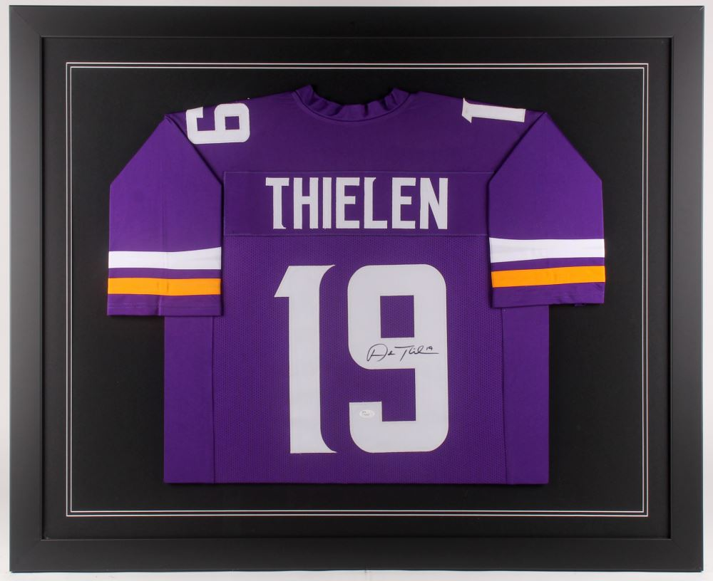 0ed55f38 Adam Thielen Signed Minnesota Vikings 35x43 Custom Framed Jersey
