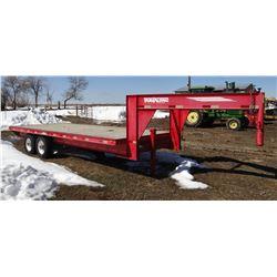 1998 Travalong flatbed trailer, gn, tandem, 20'