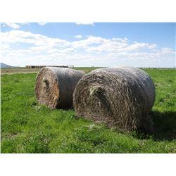 50 +/- ton grass/alfalfa (roundup ready), 1400# round bales, net wrap, 2018 hay crop