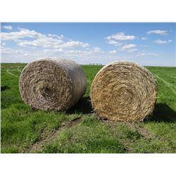 100 +/- wheat straw bales, round, net wrap, 2018 crop year