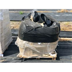 PALLET OF OVAL SHAPED BLACK PLASTIC DECORATIVE PLANTERS