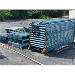 4 PALLETS OF APPROX. 7' BLUE WAREHOUSE RACKING