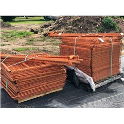 2 PALLETS OF ASSORTED ORANGE METAL COLLAPSIBLE CRATES