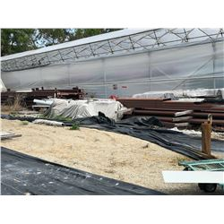 READY TO ASSEMBLE BUILDING, 60' X 122', 16' HIGH AT EVE, 1/12 ROOF PITCH, WITH DRAWINGS, MORE INFO
