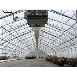 GREENHOUSE 5: APPROX. 185' X 30' PAUL BOERS GREENHOUSE, 14' TALL AT PEAK, COMES WITH 2 HYDRO-RAIN