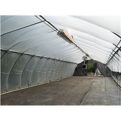 GREENHOUSE 13: 95' X 20' HARNOIS GREENHOUSE, 10' TALL AT PEAK, ONE END WALL ONLY, INCLUDES ATTACHED