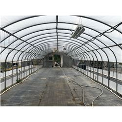 GREENHOUSE 17: 90' X 16' GREENHOUSE, 10' TALL AT PEAK, ONE END WALL ONLY, INCLUDES ATTACHED