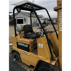 CATERPILLAR TYPE G PROPANE FORKLIFT, PNEUMATIC TIRES, NON FUNCTIONING, AS-IS