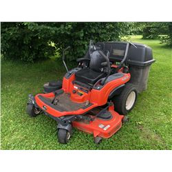KUBOTA RIDE ON LAWNMOWER, MODEL ZG23F, WITH ROPS (NOT INSTALLED) KUBOTA MODEL GCK54-23ZG GRASS