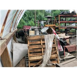 REMAINING CONTENTS OF HUT INC. RACKING, HEATERS AND MORE, BOXES AND LAWN MOWER ATTACHMENT NOT