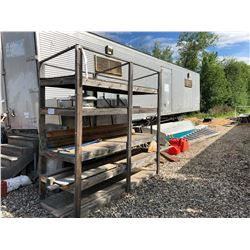 REMAINING LOOSE CONTENTS AROUND TRAILER INC. TARP, IRRIGATION PARTS, STAINLESS STEEL FRIDGE AND MORE