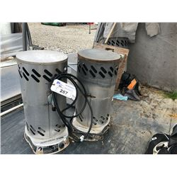LOT OF ASSORTED PROPANE HEATERS AND LOOSE CONTENTS IN AREA