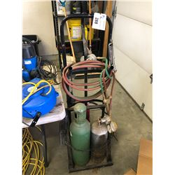 OXYACETYLENE SET WITH TANKS AND CART