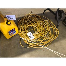 2 YELLOW EXTENSION CORDS